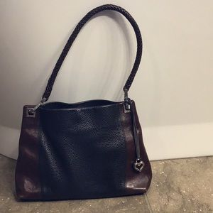 Brighton bag, black and brown leather